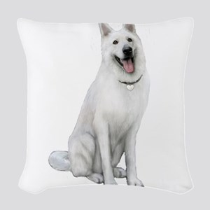 German Sheperd (gp) Woven Throw Pillow