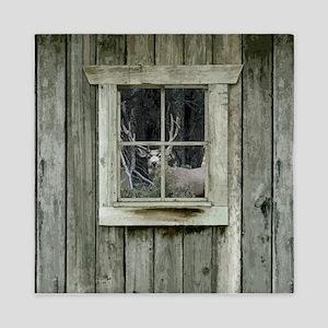 Old Cabin Window Buck 1 Queen Duvet