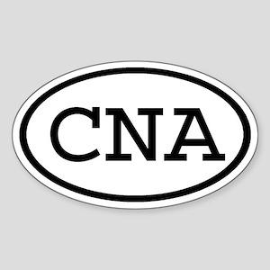CNA Oval Oval Sticker