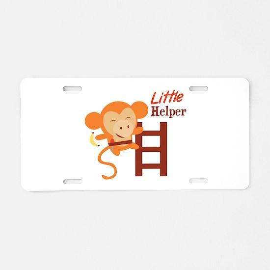 Little Helper Aluminum License Plate