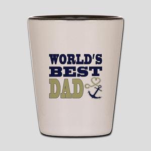 World's Best Dad Heart Anchor Shot Glass
