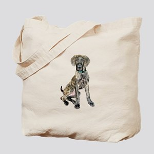 Brindle Great Dane Pup Tote Bag