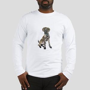 Brindle Great Dane Pup Long Sleeve T-Shirt