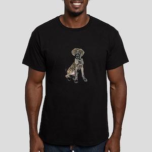 Brindle Great Dane Pup Men's Fitted T-Shirt (dark)