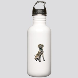 Brindle Great Dane Pup Stainless Water Bottle 1.0L