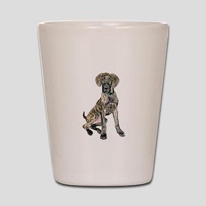 Brindle Great Dane Pup Shot Glass