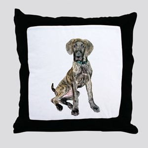Brindle Great Dane Pup Throw Pillow