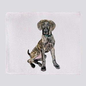 Brindle Great Dane Pup Throw Blanket
