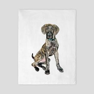 Brindle Great Dane Pup Twin Duvet