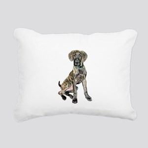 Brindle Great Dane Pup Rectangular Canvas Pillow