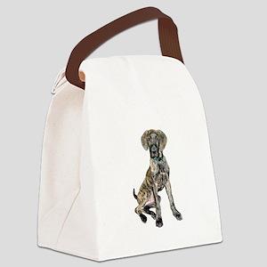 Brindle Great Dane Pup Canvas Lunch Bag