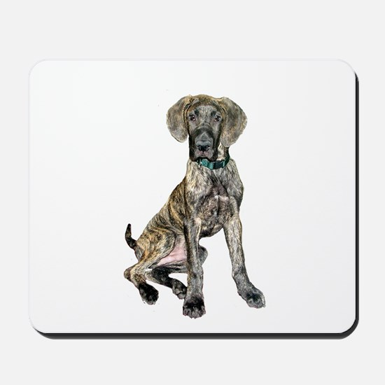 Brindle Great Dane Pup Mousepad
