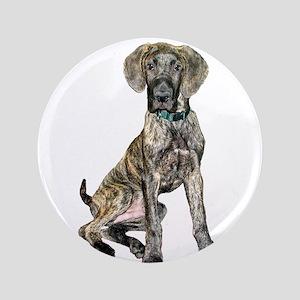 "Brindle Great Dane Pup 3.5"" Button"