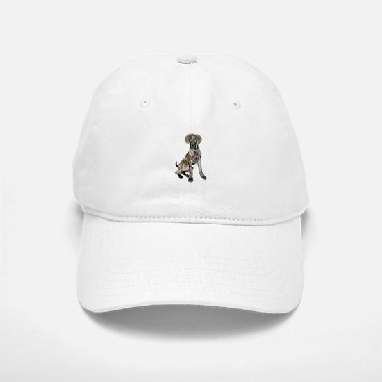 Brindle Great Dane Pup Baseball Baseball Cap