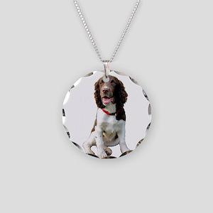 English Springer (LW) Necklace Circle Charm