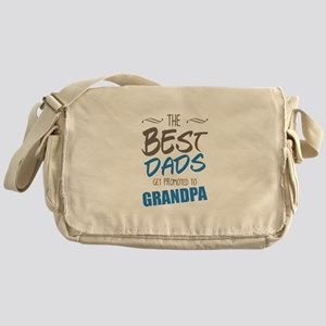 Great Dads Get Promoted to Grandpa Messenger Bag