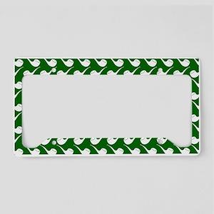 Green and White Hip Pipe Patt License Plate Holder