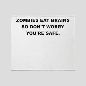 ZOMBIES EAT BRAINS Throw Blanket