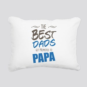 Great Dads Get Promoted to Papa Rectangular Canvas