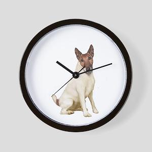 Fox Terrier (brwn-w) Wall Clock
