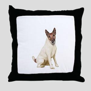 Fox Terrier (brwn-w) Throw Pillow