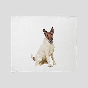 Fox Terrier (brwn-w) Throw Blanket