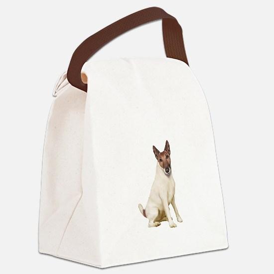 Fox Terrier (brwn-w) Canvas Lunch Bag