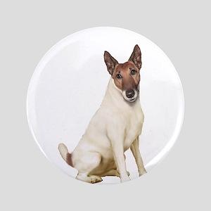 "Fox Terrier (brwn-w) 3.5"" Button"