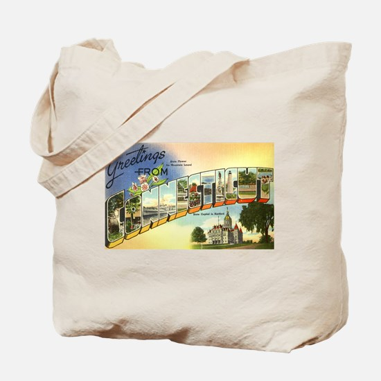 Greetings from Connecticut Tote Bag