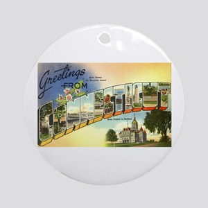 Greetings from Connecticut Ornament (Round)