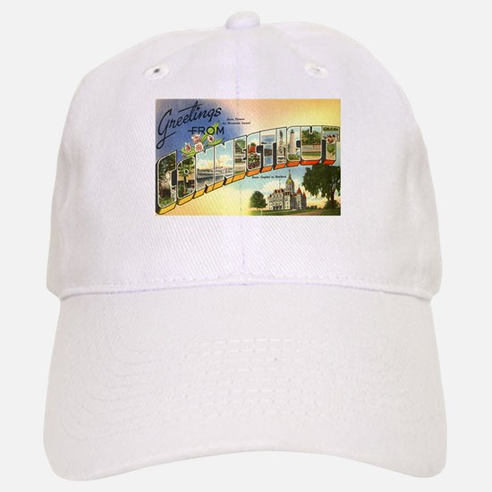 Greetings from Connecticut Baseball Baseball Cap