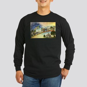 Greetings from Connecticut Long Sleeve Dark T-Shir