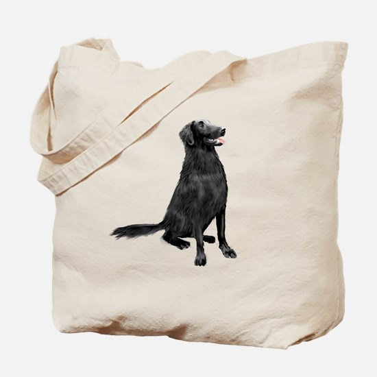 Flat Coated Retrvr (C) Tote Bag