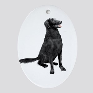 Flat Coated Retrvr (C) Ornament (Oval)