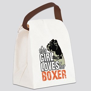 This Girl Loves Her Boxer Canvas Lunch Bag