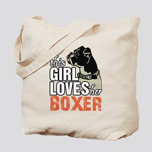 This Girl Loves Her Boxer Tote Bag