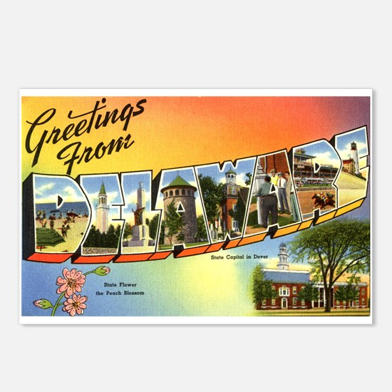 Greetings from Delaware Postcards (Package of 8)