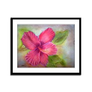 """""""Kauai Hibiscus"""" Framed Panel Print"""