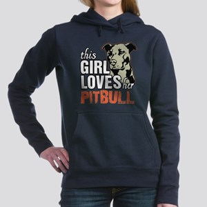 This Girl Loves Her Pitbull Women's Hooded Sweatsh