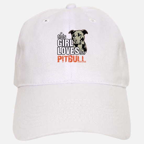 This Girl Loves Her Pitbull Baseball Baseball Baseball Cap
