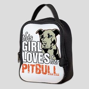 This Girl Loves Her Pitbull Neoprene Lunch Bag