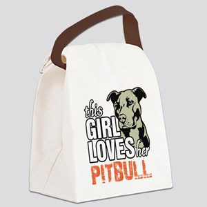 This Girl Loves Her Pitbull Canvas Lunch Bag
