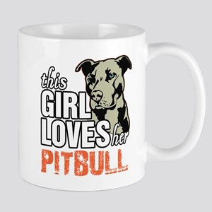 This Girl Loves Her Pitbull Mugs
