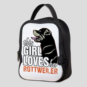 This Girl Loves Her Rottweiler Neoprene Lunch Bag
