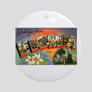 Greetings from Florida Ornament (Round)