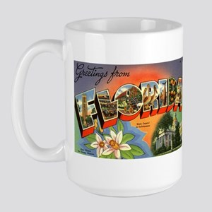 Greetings from Florida Large Mug