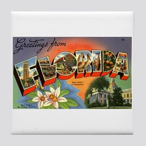 Greetings from Florida Tile Coaster