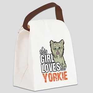 This Girl Loves Her Yorkie Canvas Lunch Bag