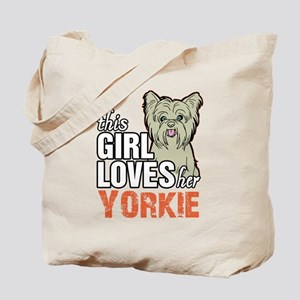 This Girl Loves Her Yorkie Tote Bag