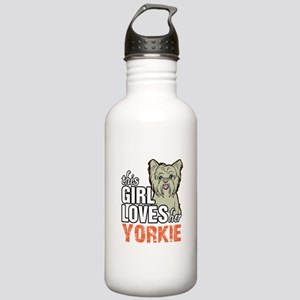 This Girl Loves Her Yorkie Water Bottle